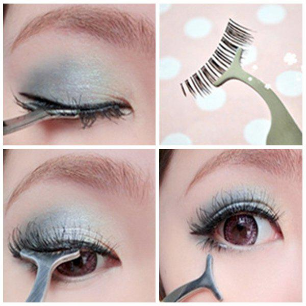 Stainless Steel Eyelash Extension TweezerBEAUTY<br><br>Color: SILVER; Category: Other Brush; Features: Limits Bacteria; Season: Fall,Spring,Summer,Winter; Weight: 0.080kg; Package Contents: 1 x Eyelash Tweezer;