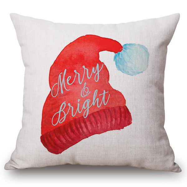Discount Holiday Christmas Cap Printed Pillow Case