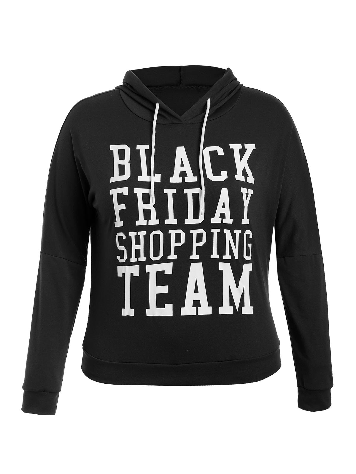 Latest Black Friday Print Plus Size Hoodie