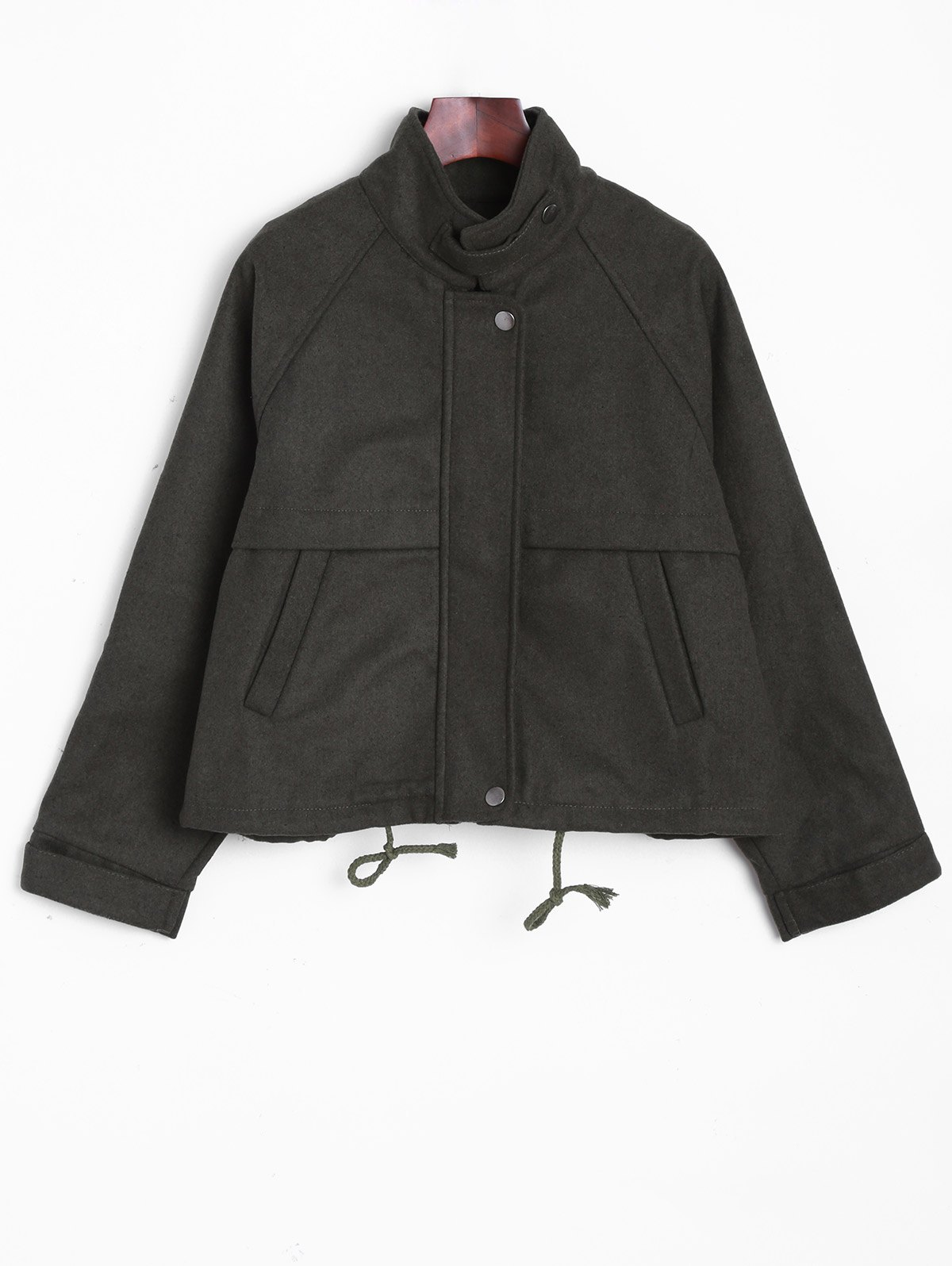 New Stand Collar String  Jacket