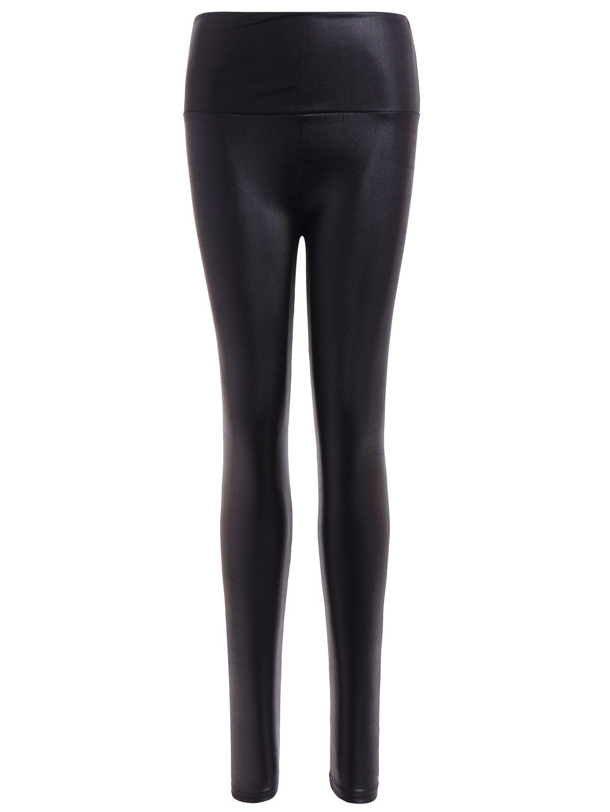 Unique Stretchy PU Leather Leggings