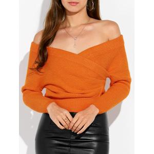Crisscross Wrap Knit Sweater