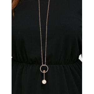 Knitted Necklace Hole Design Flare Dress -