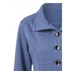 Button Up Vertical Pockets Coat -