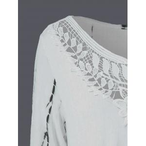 Hollow Out Asymmetrical T-Shirt - OFF WHITE M