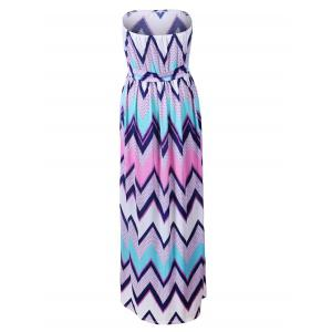 Strapless Zig Zag Beach Maxi Dress -