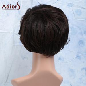 Short Curly Heat Resistant Synthetic Side Bang Men's Wig - BROWN