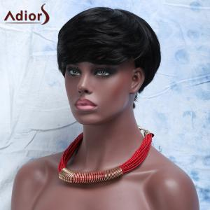 Virile Women's  Short Capless Full Bang Human Hair Wig -