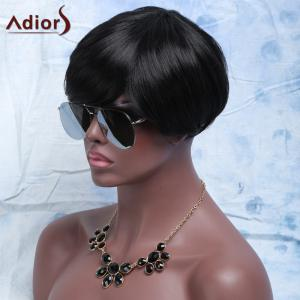 Synthetic Fluffy Full Bang Short Layered Cut Wigs For Women -