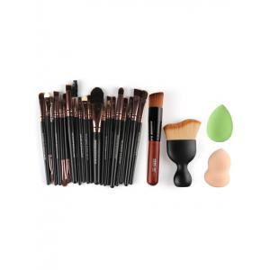 22 Pcs Face Eye Makeup Brushes and Makeup Sponges