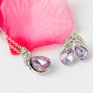 Ensemble de bijoux en faux strass crystal -