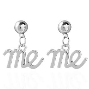 Me Metal Drop Earrings