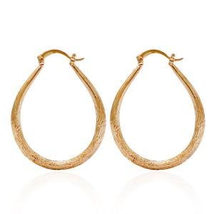 U Shape Hoop Earrings - Golden