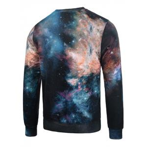 3D Galaxy Bear Print Flocking Graphic Trippy Sweatshirt - COLORMIX XL