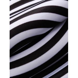 3D Spiral Stripe Print Flocking Black and White Hoodie men - WHITE/BLACK 2XL