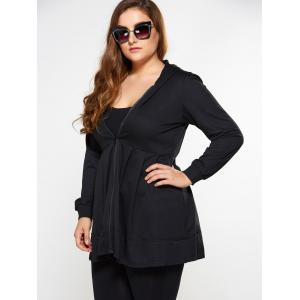 Zip Up Skirted Plus Size Hoodie -
