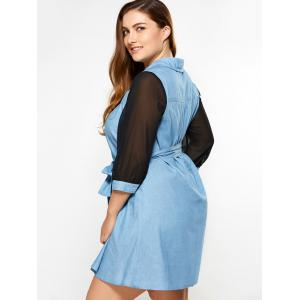 Plus Size See Thru Chambray Dress -