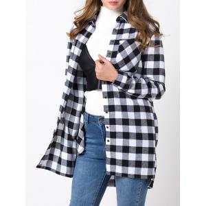 Loose Fit Long Sleeve Checkered Shirt -