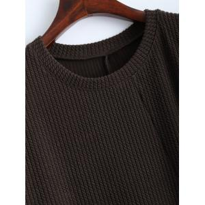 Slouchy Jumper Dress with Pocket - COFFEE M