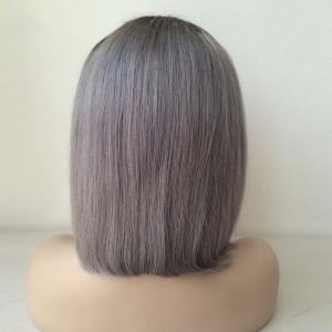 Bob Hairstyle Side Parting Short Lace Front Human Hair Wig -