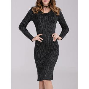 Fitted Long Sleeves Knit Dress -