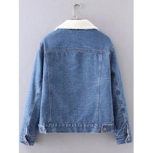 BF Fleece Jean Jacket with Sleeves - DEEP BLUE L