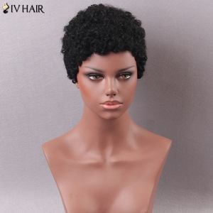 Siv Hair Short Curly Human Hair Wig - JET BLACK 01#