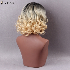 Siv Hair Mixed Color Short Side Parting Curly Human Hair Wig - COLORMIX