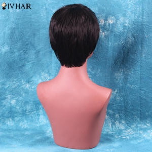 Siv Hair Short Side Bang Straight Human Hair Wig -