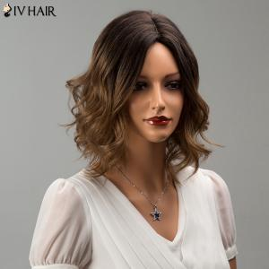 Siv Hair Short Middle Part Mixed Color Wavy Human Hair Wig - COLORMIX