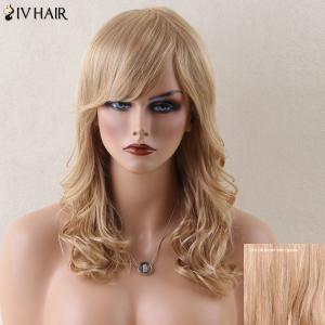 Siv Hair Long Side Bang Stunning Wavy Human Hair Wig