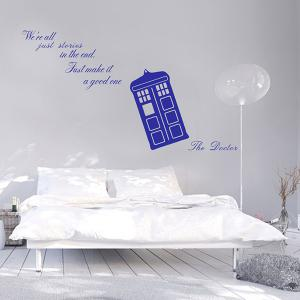We're Stories Quote Removable Living Room Wall Stickers - Blue - 60*90cm