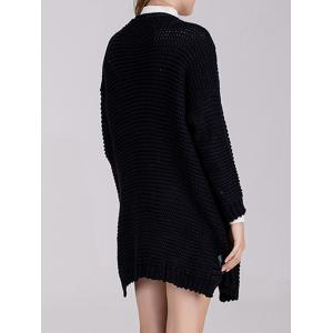 Chunky Knit Open Front Cardigan -