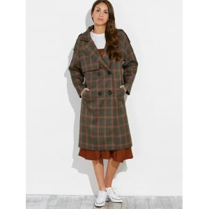 Plaid Vintage Pea Coat -