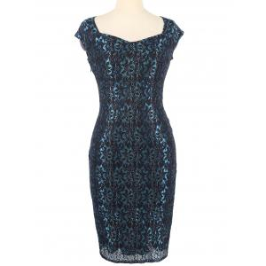 Flower Lace Fitted Bodycon Dress