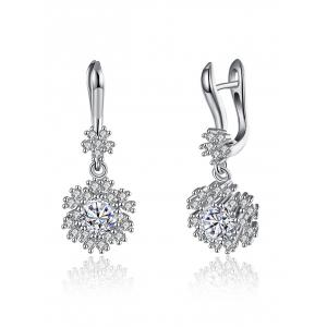 S925 Diamond Snowflake Earrings