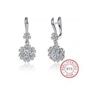 S925 Diamond Snowflake Earrings -