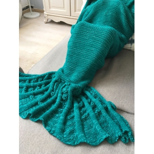 Winter Thicken Knitted Wrap Sofa Mermaid Blanket -