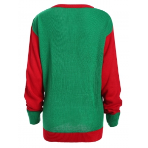 Christmas Fruit Cake Pattern Plus Size Sweater - RED/GREEN 3XL