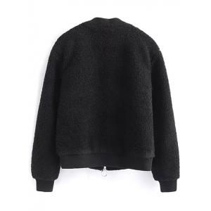 Zip-Up Fitting Lamb Wool Jacket -