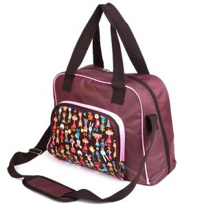 Nylon Printed Diaper Bag - PINK