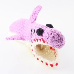 Cartoon Knitted Shark Slipper Socks - LIGHT PURPLE