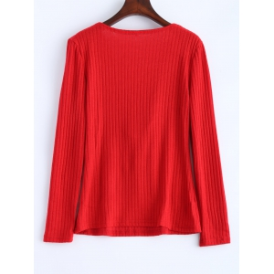 Lace Up Ribbed Jumper -