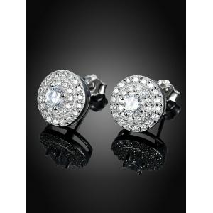 S925 Diamond Stud Earrings -