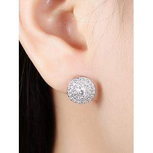 S925 Diamond Stud Earrings - SILVER