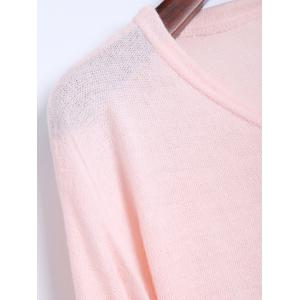 V Neck Longline Sweater -