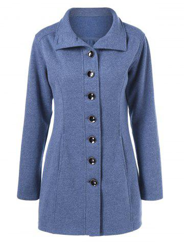 Best Button Up Vertical Pockets Coat