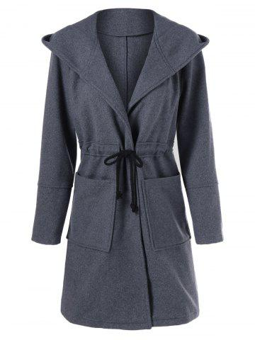 Chic Big Pockets Hooded Coat