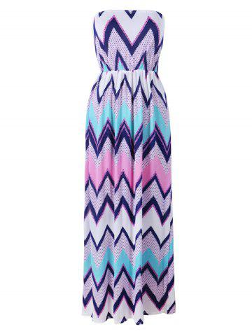 Store Strapless Zig Zag Beach Maxi Dress