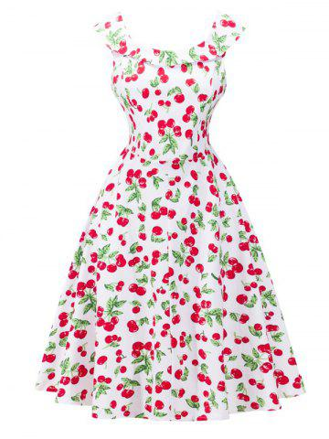 Outfit Retro Style Cherry Printing Dress